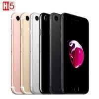 Открыл apple iphone 7 Мобильный телефон WI FI 32 ГБ/128 ГБ/256 ГБ Встроенная память IOS 11 LTE 12,0 МП камера Quad Core отпечатков пальцев apple iphone7