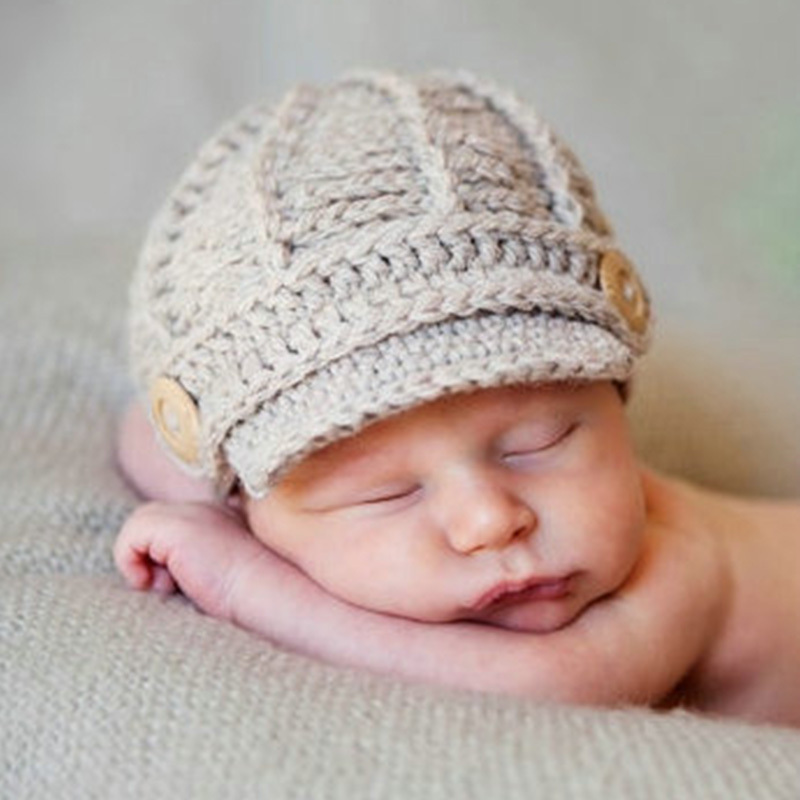2015 Newborn Boy Baby Hat Newsboy Cape Pattern Cap Baby Fotos Baby