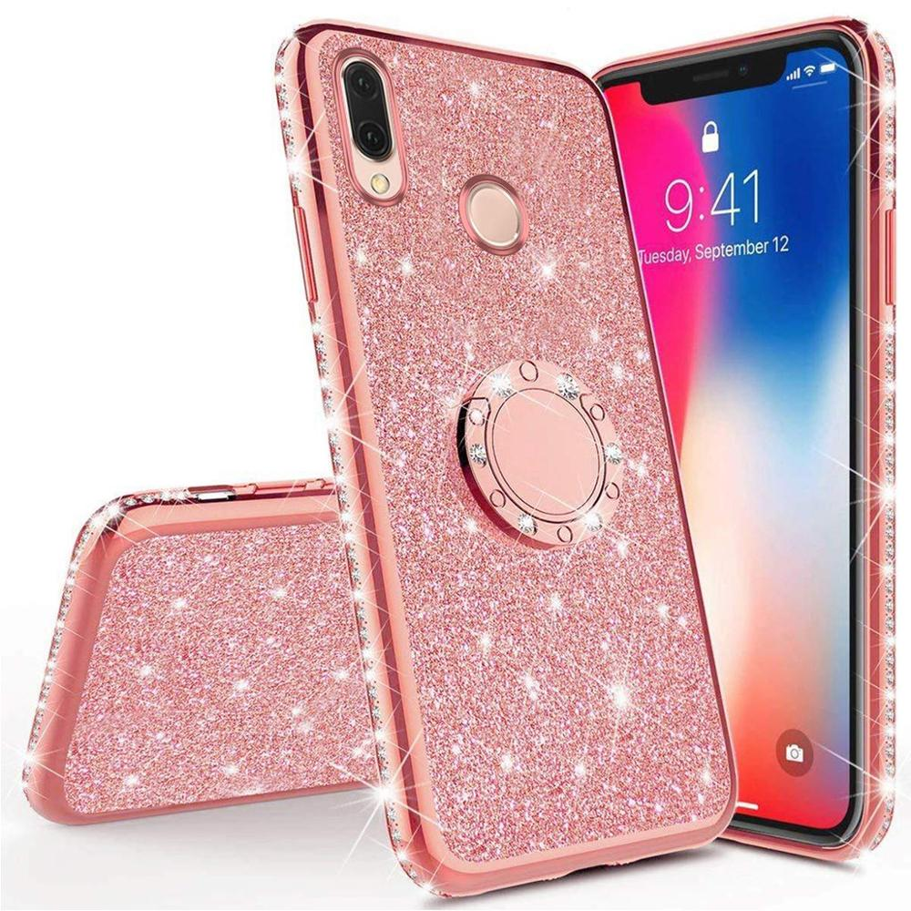 Diamond Case for Huawei Y9 Y6 Y7 Y5 2019 <font><b>2018</b></font> View 20 Cover For Huawei Honor 8A 7C 7A 8S 20 Play 8C Mate <font><b>10</b></font> 20 Pro Glitter Case image