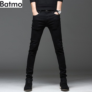 Casual Slim elastic black jeans 1