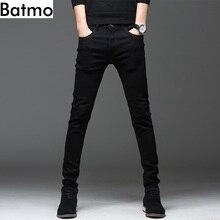 b9c981d23eb Batmo 2018 nueva llegada alta calidad casual Delgado elástico negro jeans  hombres, pantalones lápiz de los hombres, vaqueros aju.