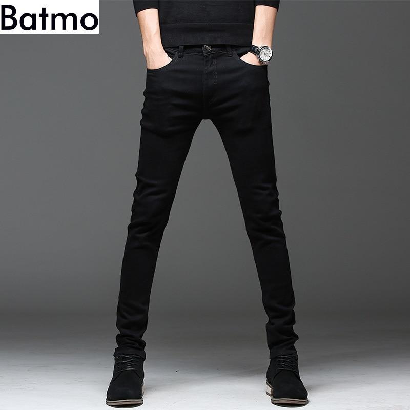 Batmo 2020 new arrival high quality casual slim elastic black jeans men ,men's pencil pants ,skinny jeans men 2108