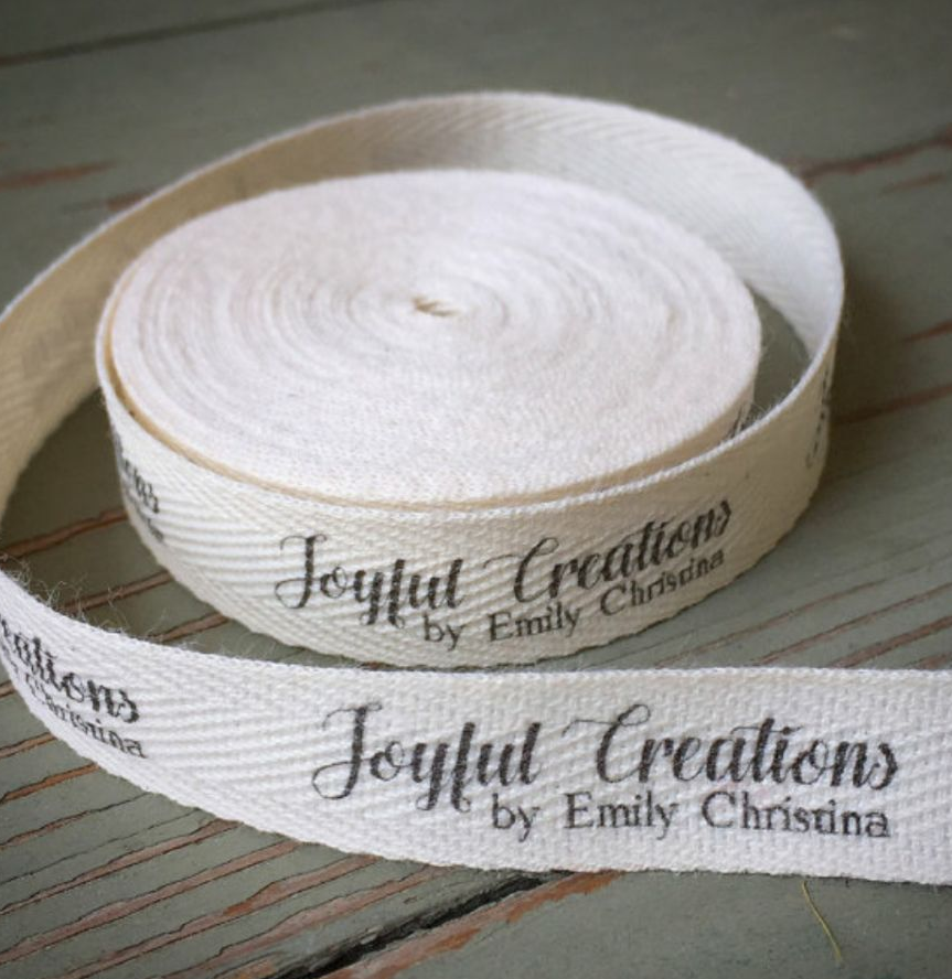 Wholesale Free Shipping Customize Sign Garment Clothing Print Labels 1000pcs/roll Width Below 25mm Natural Cotton Label Tag CD03