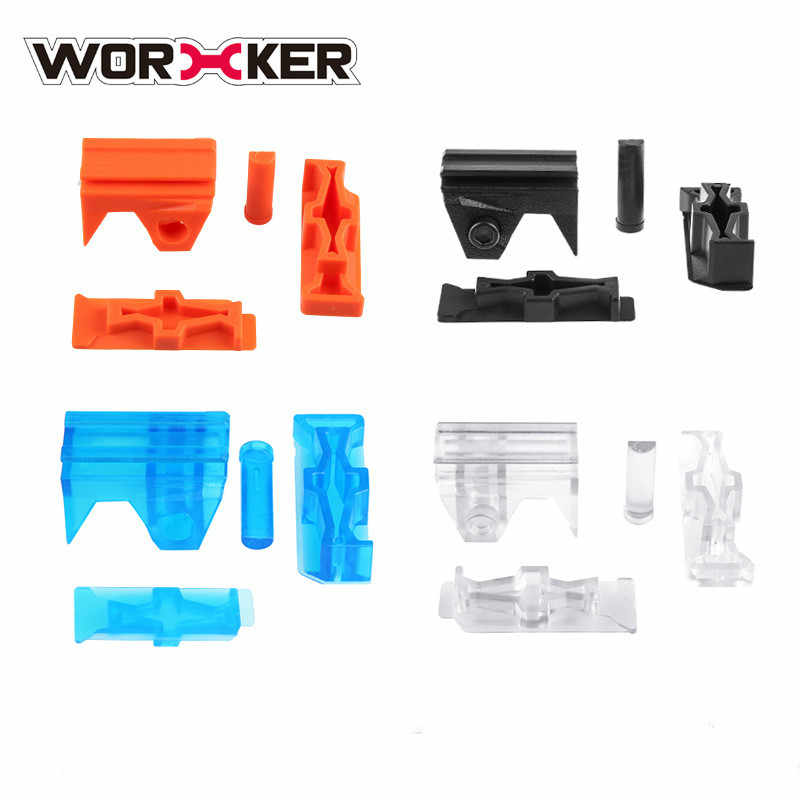 WERKNEMER Gemodificeerde Patch Speelgoed Accessoires Top en Side Rechts Links Rail Adapter Picatinny Base Set voor Nerf Stryfe STF