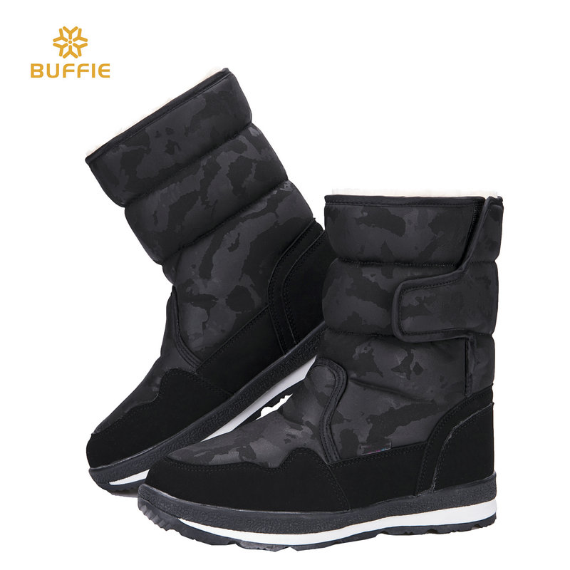Shoes woman female black winter snow boot camouflage design big size warm fur super quality made in china Rubber sole boots free цена