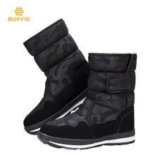 Shoes woman female black winter snow boot camouflage design big size warm fur su