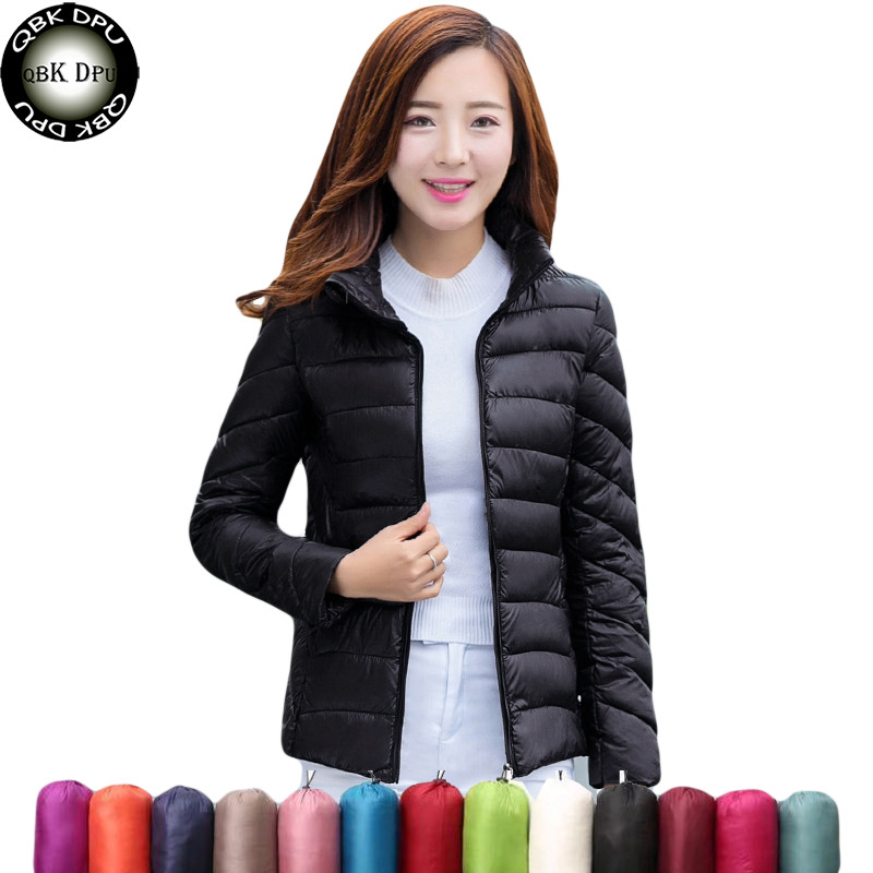 Mom Thin Light Jacket Short Tops Winter Jacket Women Coat Korean Slim Plus size Female   Parka   Coat Padded Jacket Casual Basic