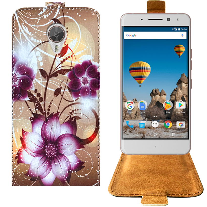"Cartoon Painting Factory Price PU Leather Special Flip Case For General Mobile GM 5 Plus Phone Cover 5.5"" Protective Case"