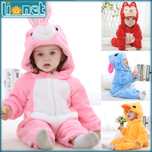 Kids Boy Girls Sleepwear Brand Designer Soft Flannel Animal Baby Pajamas Kawaii Warm Boys Girls Hooded Romper Children Sleepwear