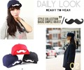 New!Short brim solid color mustache unisex baseball caps men women fashion casual cap summer hat dropshiping