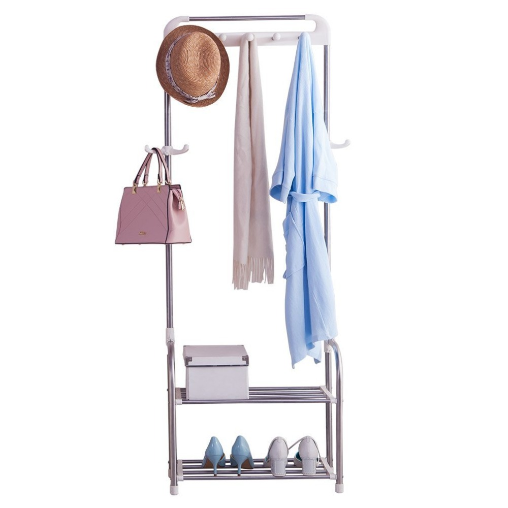 Modern Coat Rack Tree Stand Hat Jacket Hanger Hooks Storage Shelves Organizer Clothes Hanger Rack DQ1709