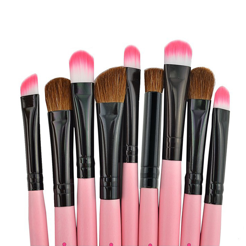 2setPink Professional Cosmetic Makeup Brush Brushes Set Kit Tool Super Soft Pouch Bag Case + Leather Case Maquillaje Profesional