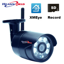 Mini CCTV System IP Camera Outdoor WiFi 720P Security Cameras Waterproof Bullet Camera IP Good Quality HD Cam with Micro SD Slot