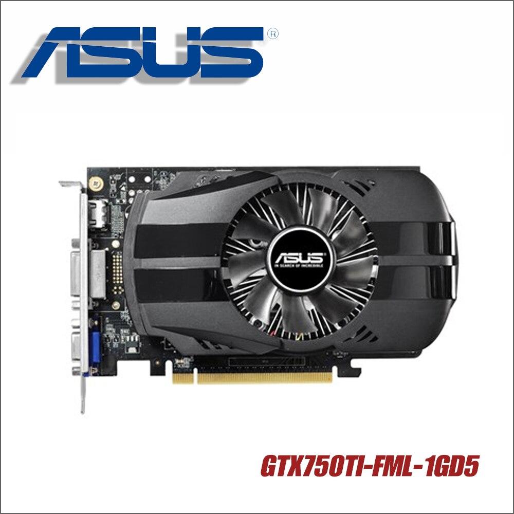 Asus GTX750TI-FML-1GD5 GTX750TI GTX 750TI 750 1g D5 DDR5 128 Bit PC escritorio tarjetas gráficas PCI Express 3,0 ordenador vídeo utilizado
