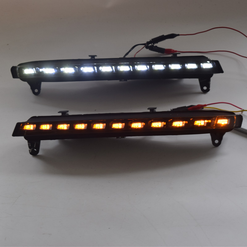 Car Flashing 1 Set DRL For Audi Q7 2006 2007 2008 2009 Daylight Car LED DRL