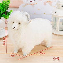 Simulation sheep polyethylene&furs sheep model funny gift about 20cmx9cmx17cm