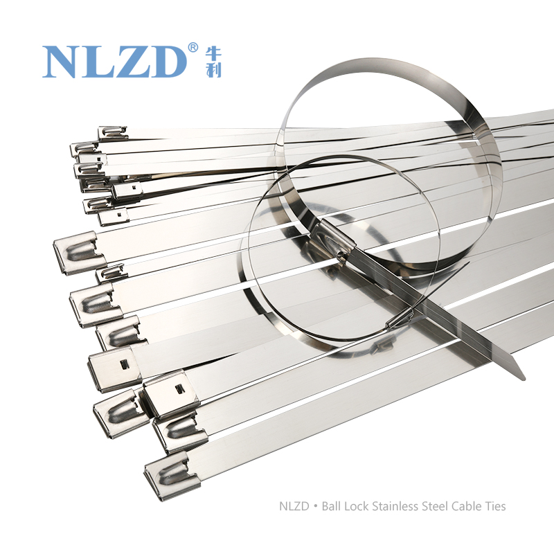 100 x STAINLESS STEEL CABLE TIES Ball Locking METAL ZIP TIE WRAPS EXHAUST