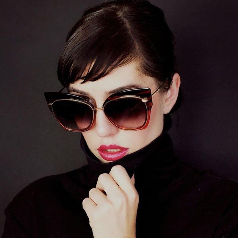 Steampunk Goggle Women Carter Cat Eye Sunglasses Female Luxury Brand Cateye Lunette Sun Glasses Driver Butterfly Eyewear