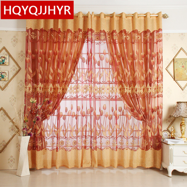 Benutzerdefinierte Europäischen Luxus Tüll Vorhänge Für Wohnzimmer Gardinen  Für Schlafzimmer Fenster Vorhang Küche Luxus Voile Vorhänge