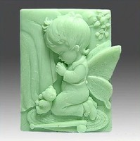 3D Praying Girl Angel Soap Mould Fondant Cake Mold Soap Chocolate Mould For The Kitchen Accessories Baking Tools For Cakes SM070