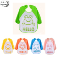 Wholesale Baby Newborn Boy Bibs Lovely Cute Cartoon Waterproof Long Sleeve For Baby Self Feeding Bib 5 Partterns Art Apron