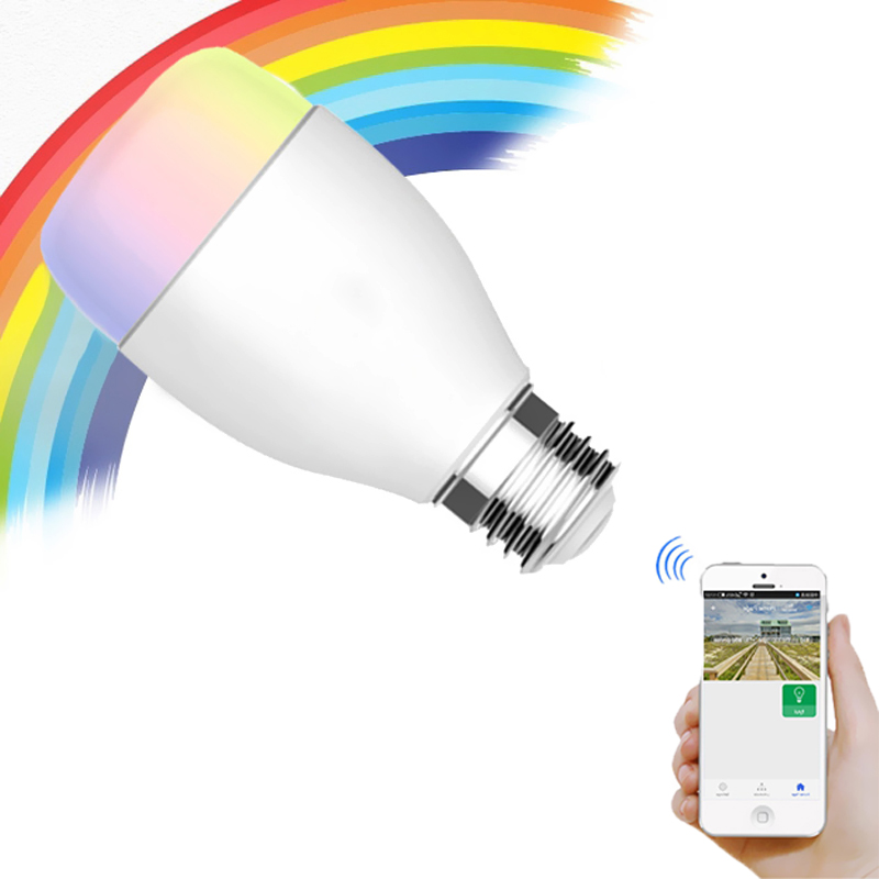 RGBW E27 Smart LED Bulb 6W WiFi Remote Smartphone Controlled Dimmable Lampada Light Color Changing Music Sync Party Lights bluetooth 4 0 led bulb smartphone app remote control led light e27 rgbw dimmable led lamp sleeping mode smart home disco light