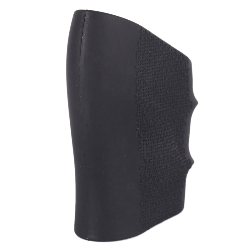 New Universal Rubber Grip Sleeve Full Size Anti Slip Fits Hunting Holsters Shield Rubber BlackNew