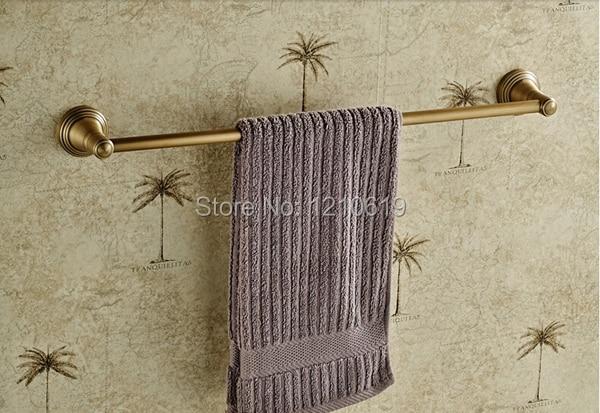 ФОТО Solid Brass Antique Brass Bathroom Towel Bar Towel Rack Holder Single Bar Vintage Style Wall Mounted