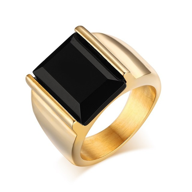 2017 latest mens wedding ring designs stainless steel 18kgp gold