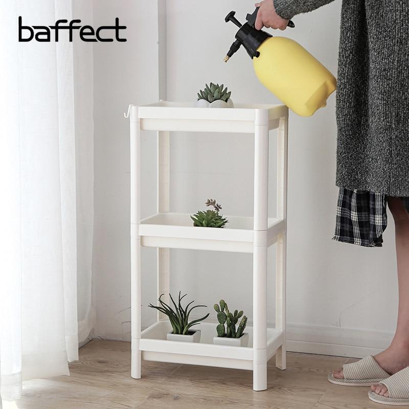 Baffect Household Shelf Organizer Combination Plastic Floor Living Room Kitchen Bathroom Storage Rack Multi layers With