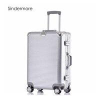 Sindermore 20 24 26 28 PC VS алюминиевая рама тележки путешествия камера Spinner Carry на кабине прокатки Hardside Багаж чемодан