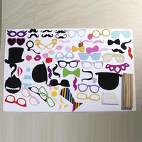 58 Pcs Set Photo Booth Props Photobooth For Wedding Birthday Event Party Supplies Cosplay Glasses Mustache