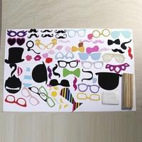 58 Unids/set Photo Booth Atrezzo Photobooth Para La Boda de Eventos y Fiesta de Cumpleaños de Cosplay Gafas Bigote Lip Stick