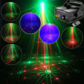 New Green Red Laser 16 Patterns Projector Blue Led Club Party Bar DJ lighting Light Xmas Dance Disco Party Stage Lights Show B3
