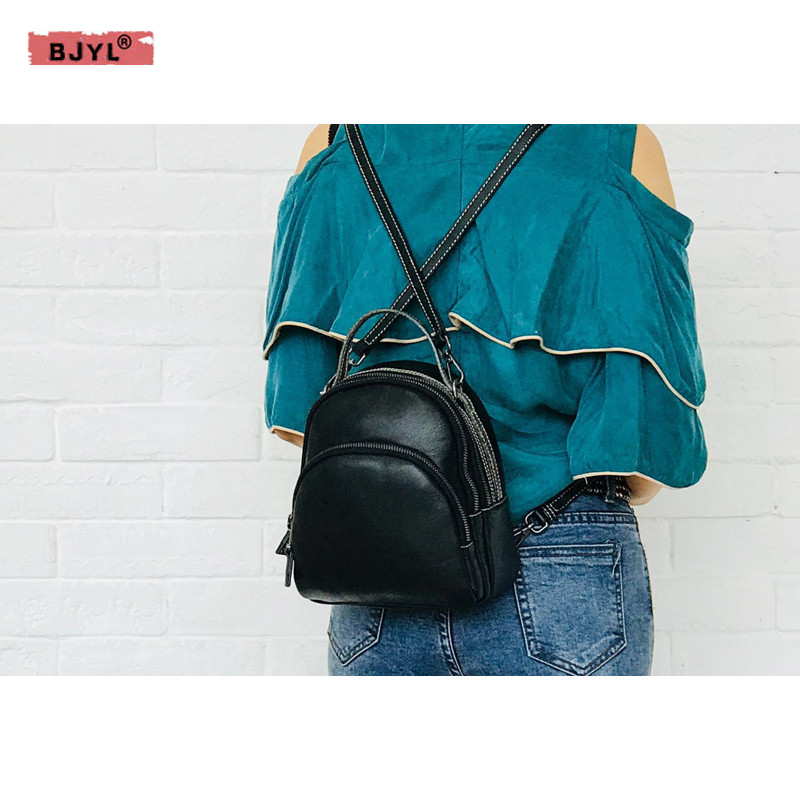 BJYL Women Backpack Genuine leather retro top layer cowhide bag large capacity multi-function shoulder bag three-use backpackBJYL Women Backpack Genuine leather retro top layer cowhide bag large capacity multi-function shoulder bag three-use backpack