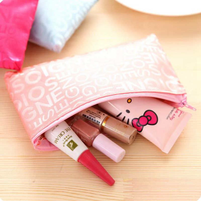 Women Travel Letter Cosmetic Bag Casual Makeup Case Zipper Make Up Bags Organizer Storage Pouch Toiletry Kit Wash Beauty Bags