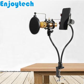 Nowy Tabletop elastyczne uchwyty stojaki z uchwytem do telefonów mikrofony przekaz na żywo statyw z uchwytami dla blogerów wideo tanie i dobre opinie Aluminium Statyw stołowy Smartfony HM-24013 480mm LISRIB