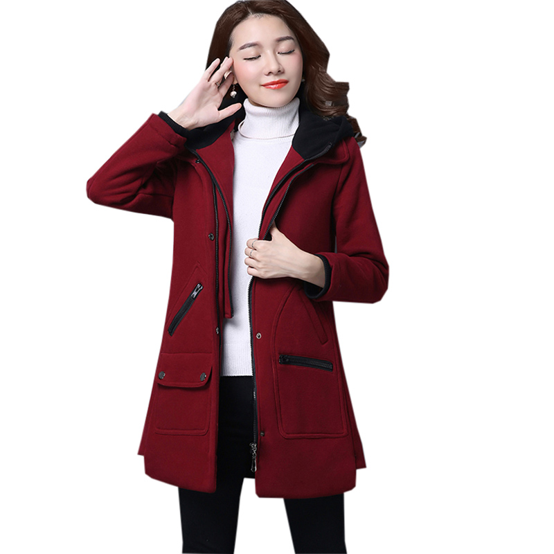 New Female Casual Cotton Jackets Faux Two Pieces Thicken Warm Hooded Cotton Coats Outwear Autumn Winter Women Long   Parkas   FP1754
