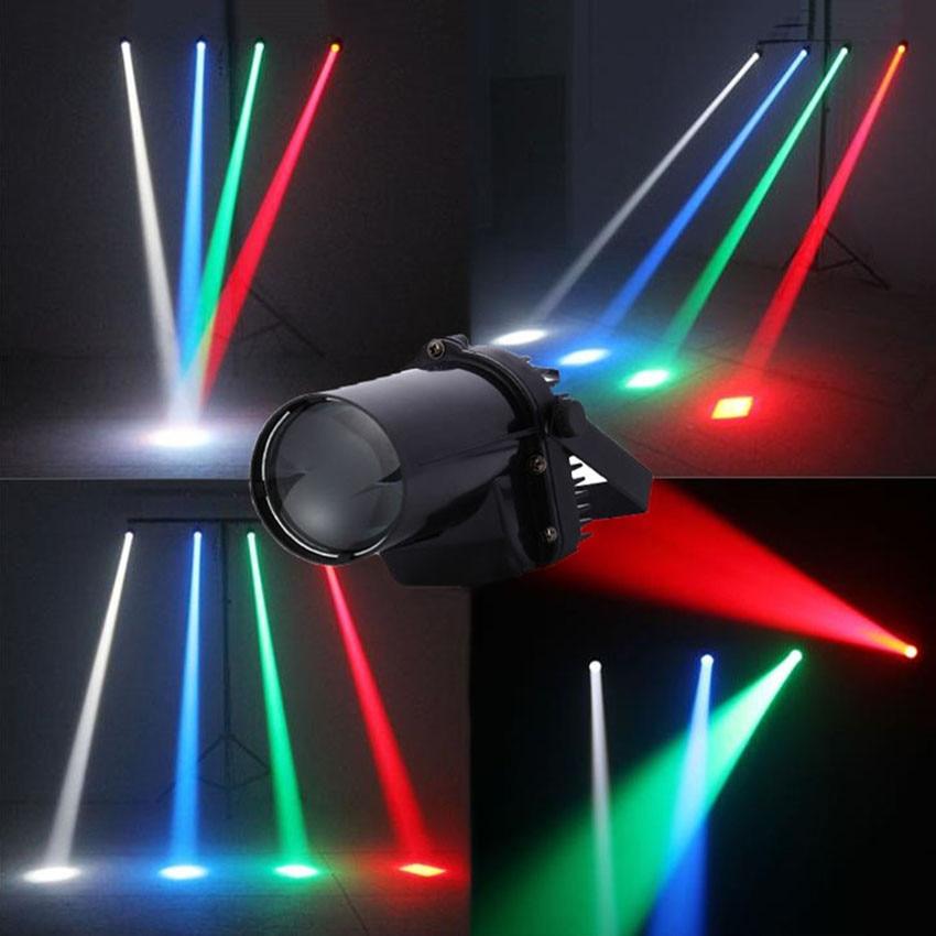 5W Disco Bean LED Pinspot Spotlight Effect Stage Light Single Color Mirror Ball Beam Lamp For DJ Party KTV Pin Spot Lights Lamps