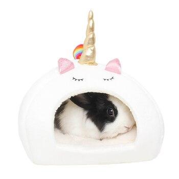 хомяк клетка для хомяка клетка для хомяка Маленький домик для животных, морские свинки, хомяки, ежики, голландские крысы, бородатые кролики дракона, высокое качество, Белый Единорог, кровать для домашних животных