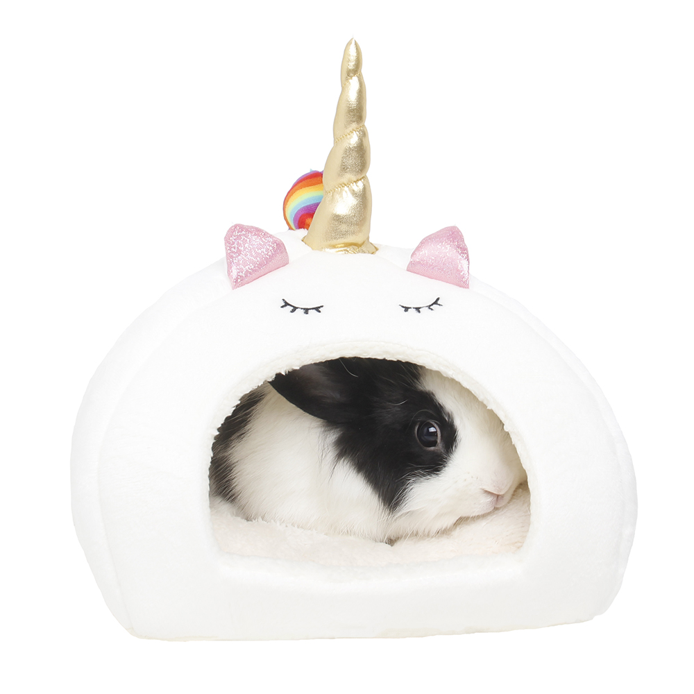 Small Animal House Guinea Pigs Hamsters Hedgehogs Dutch Rats Ferrets Bearded Dragon Rabbits High Quality White Unicorn Pet Bed