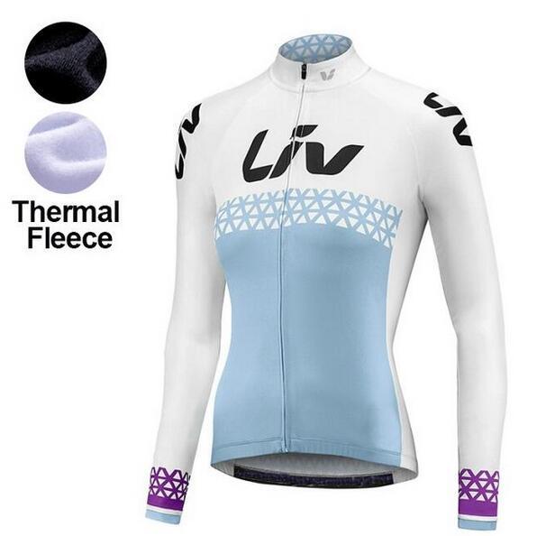 2018 Liv Women Winter Thermal Fleece Long Sleeve Cycling Jersey Clothes Bike  Outdoor Triathlon Mountain Road 8d04968d7