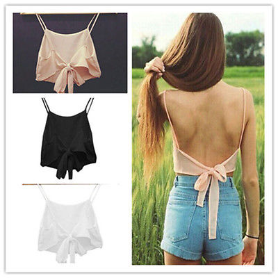 <font><b>2015</b></font> Fashion <font><b>Sexy</b></font> Women Sleeveless Camisole Shirt Summer Casual Blouse Crop Tops Bra image
