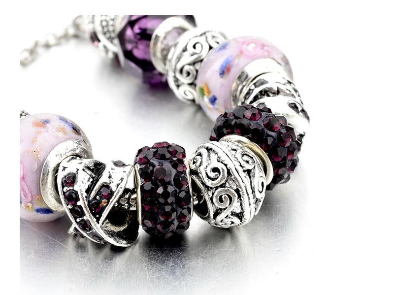CHICVIE Black Crystal Chain Link Bracelets For Women Female Charm Custom Bracelets & Bangles DIY Silver Color Jewelry SBR160014 16