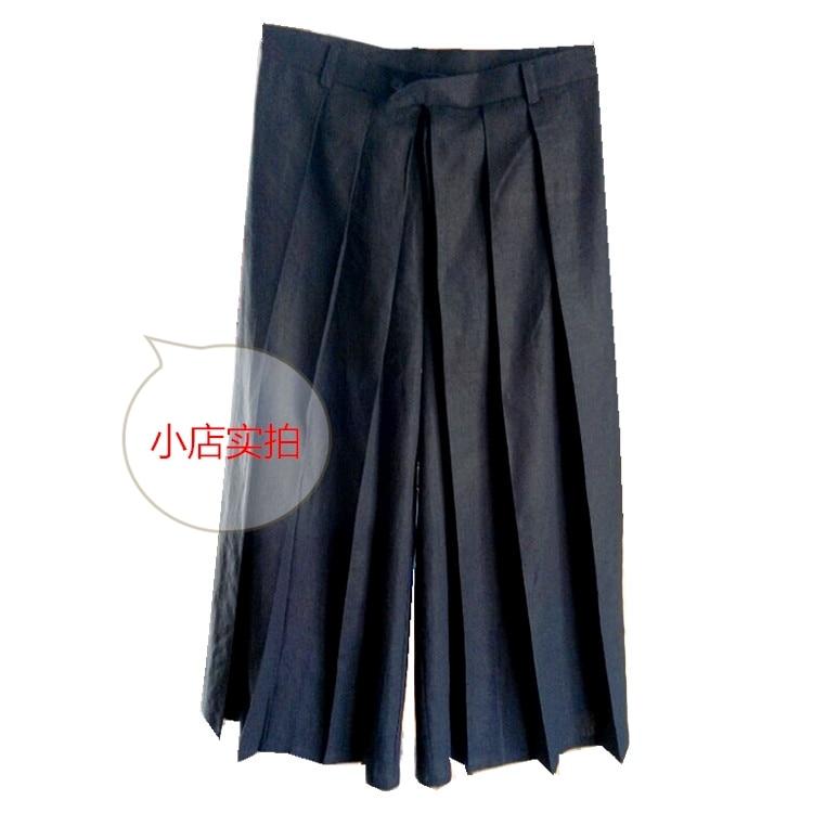 2017 Herrenbekleidung Gd Friseur Mode Lose Hosen Culottes Breites Bein Keucht Laufsteg Hosen Plus Größe Sängerin Kostüme 27-44 Geschickte Herstellung