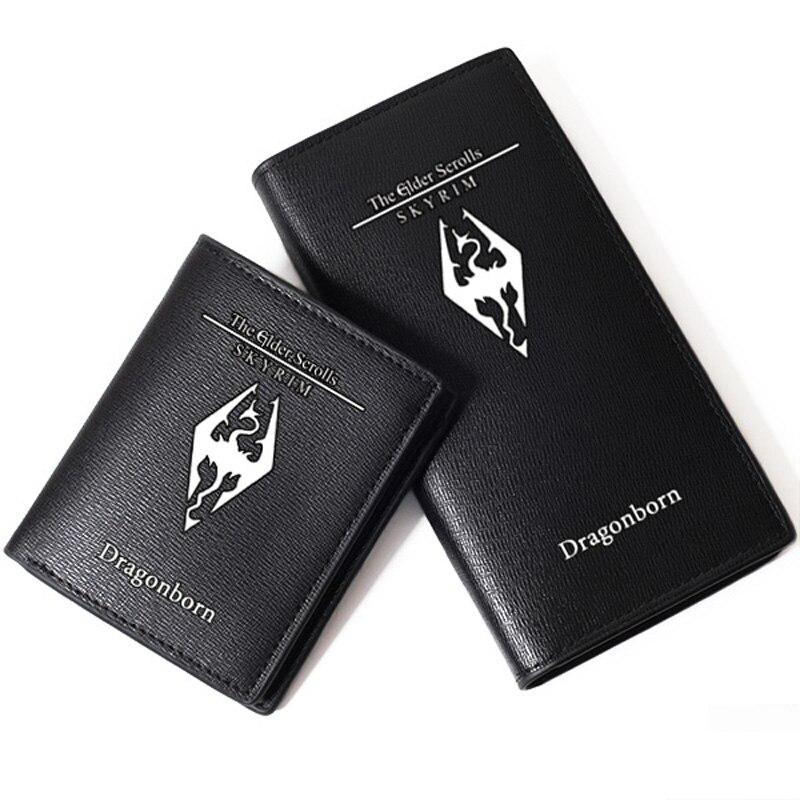 Short Purse Id-Card-Holder Long Wallet Elder Scrolls High-Quality Fashion Unisex Game-Printing