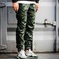 Primavera Otoño hombres Joggers Pantalones Polka Dot Camo Camuflaje Tobillo Esposado Pantalones de Cordón Para Los Jóvenes