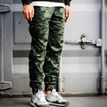 Spring Autumn Men`s Joggers Pants Polka Dot Camo Camouflage Ankle Cuffed Drawstring Trousers For Youth