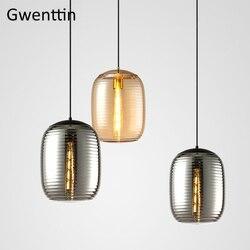 Witraże lampy wiszące nowoczesne wiszące oprawy oświetleniowe salon sypialnia lampy przemysłowe Loft Decor zawieszenia oprawy Wiszące lampki    -