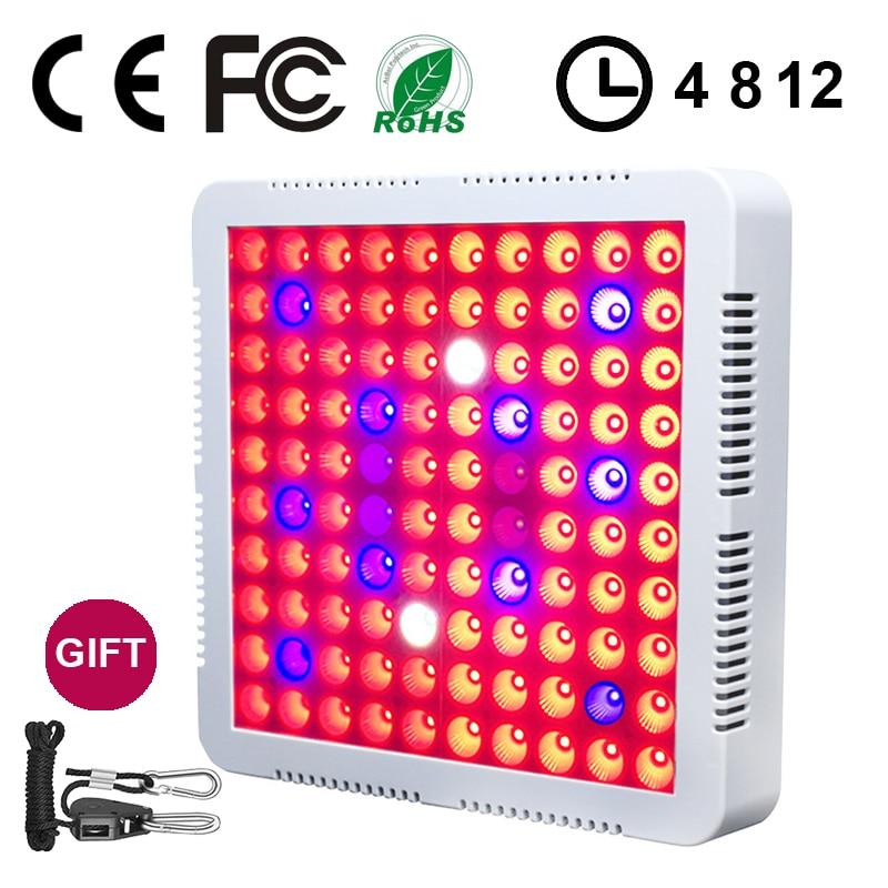 Timing LED cultiver plante lumière lampe Fitolampy 1500 W 100 LED plein spectre intérieur jardin pour plantes fleur graine Fito Phyto culture